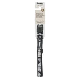Collar nylon Camuflaje gris/negro (XL)