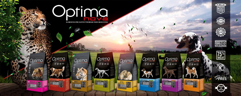 Alimentación Optima Nova para perros y gatos