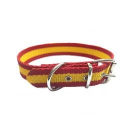 Collar nylon bandera española