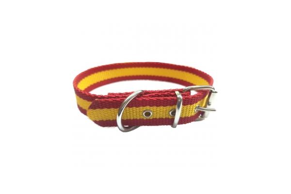 Collar nylon bandera España
